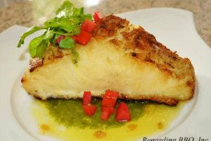 Chilean Sea Bass with Garlic Butter