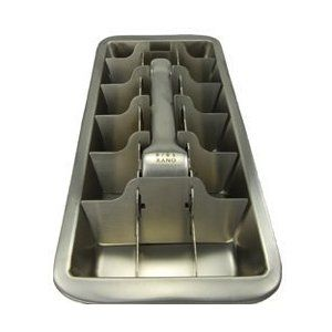 stainless steel ice cube tray.... These are a bit expensive but worth it.