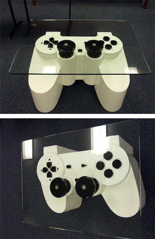 Game Controller Coffee Table;; OBVIOUSLY HAS TO GO IN MY NERD CAVE