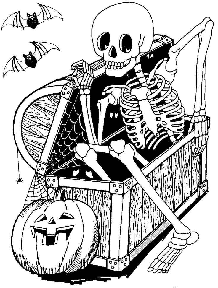 coloriage halloween imprimer halloween coloring pagesadult - Halloween Skeleton Coloring Pages