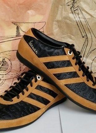 Kaufe meinen Artikel bei #Kleiderkreisel http://www.kleiderkreisel.de/damenschuhe/turnschuhe/115258566-adidas-vespa-sprint-schwarz-brauner-sneaker-unisex-gr-40-uk-7