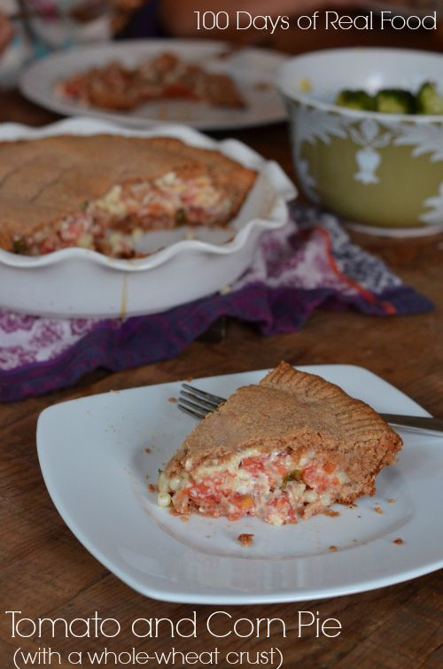 tomato pie with corn and a whole wheat crust whole wheat pie crust ...