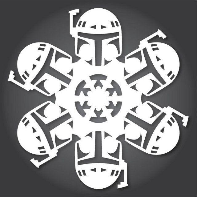 2013 Star Wars Paper Snowflake Designs