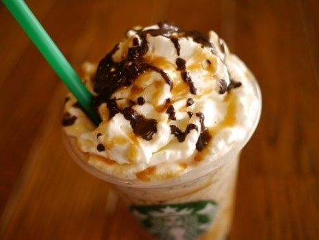 10. The Twix Frappuccino | 25 Secret Starbucks DrinksOrder a caramel frappuccino with extra caramel, one pump of hazelnut syrup. Have java chips and whipped cream blended in and top it off with mocha drizzle.