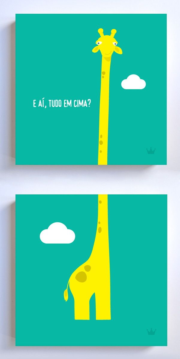 Posters Girafinha | Posteria | Elo7