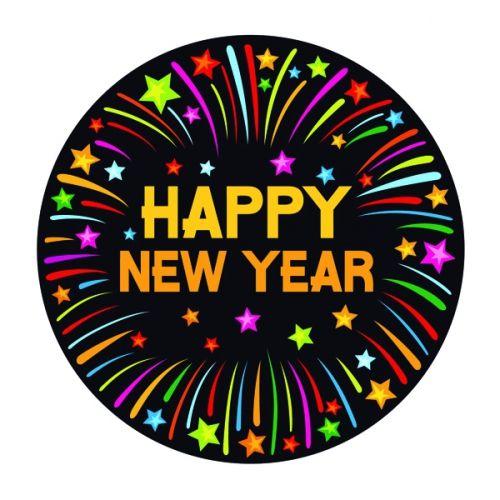Bierviltjes happy new year thema print. 25 bierviltjes met happy new year thema print.