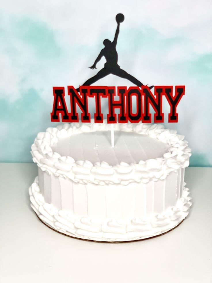 Jordan Cake Topper | Jordan cake, Cake toppers, Cake