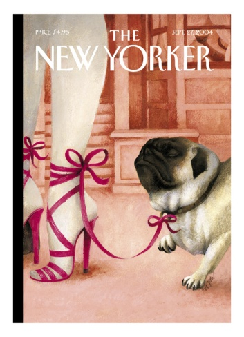 The New Yorker Cover - September 27, 2004. I wish they'd stop casting me as an accessorie and go with my real strength as a Winston Churchill impersonator.