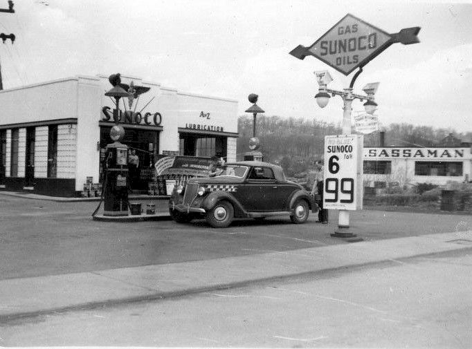 Sunoco 1940 S Vintage Gas Stations Old Gas Stations