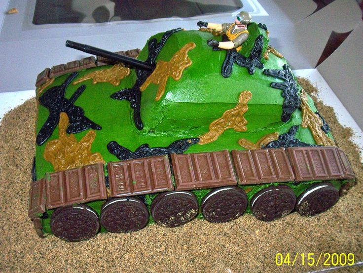 army themed birthday party for kids | My nephew's cake for his Army themed party.
