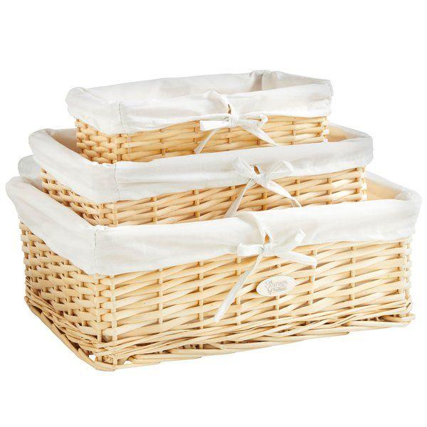 3 Piece Wicker Basket Set Wicker Baskets Storage Seagrass Storage Baskets Storage Baskets
