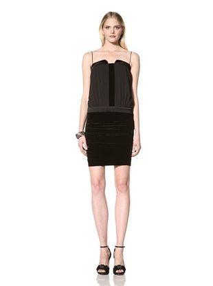 Nicole Miller Women's Stretch Velvet Dress