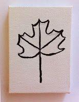 Fall Leaf Sharpie Art