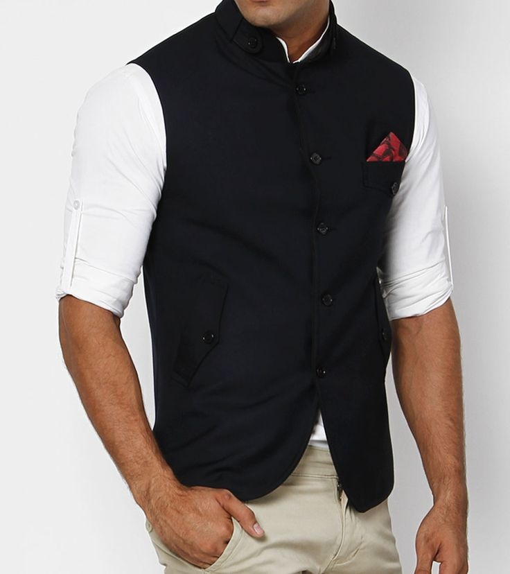 Who ever said Westerners were the best at vest fashion? I give you the Nehru jacket.
