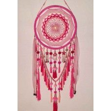 Dream Catcher Hot Pink Large handmade  found at www.ellurah.com