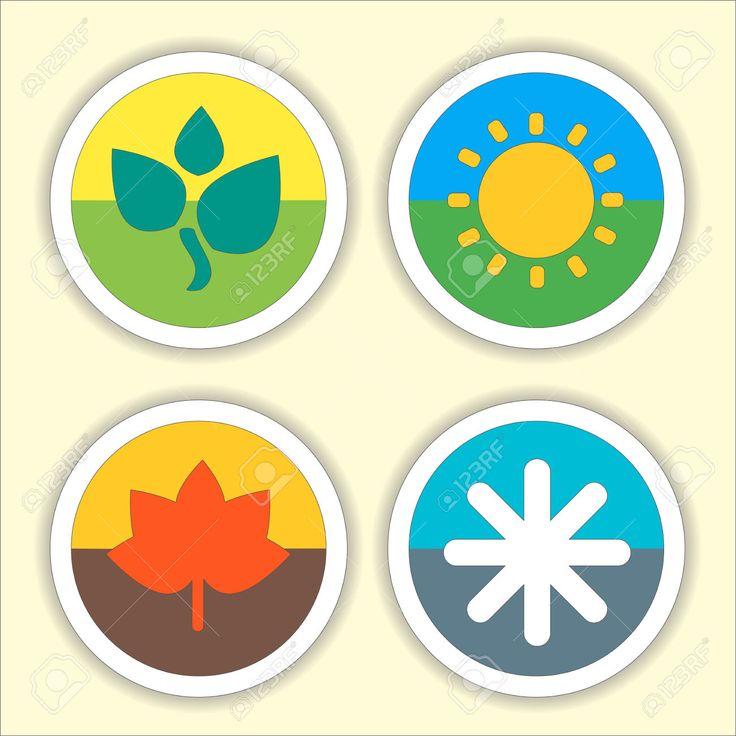 45608330-Four-seasons-flat-thin-icon-set-Vector-illustration-of-winter--Stock-Photo.jpg (1300×1300)
