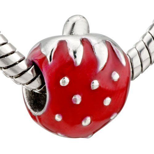 Pugster Big Red Strawberry Beads Fit Pandora Chamilia Biagi Charm & Bracelet Pugster. $12.49. Hole size is approximately 4.8 to 5mm. Measures 9mm X 14mm. Pugster are adding new designs all the time. Fit Pandora, Biagi, and Chamilia Charm Bead Bracelets. Unthreaded European story bracelet design