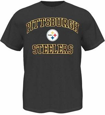 Pittsburgh Steelers Majestic Heart & Soul III Charcoal Men's T-Shirt