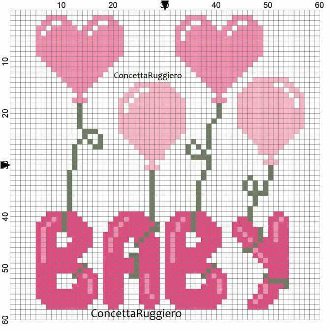 Baby cross stitch.