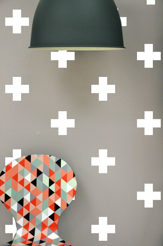 Crosses  WALL DECAL by TheLovelyWall on Etsy