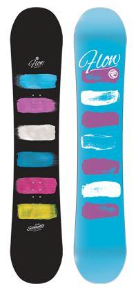 Silhouette Twin Tip Rocker Snowboard by Flow Snowboards Women's Snowboarding Gear and Equipment