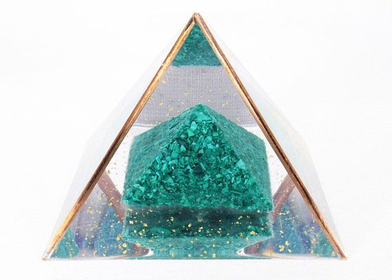 DOUBLE HEALING  Large Orgone Pyramid Reiki Therapy Orgonite