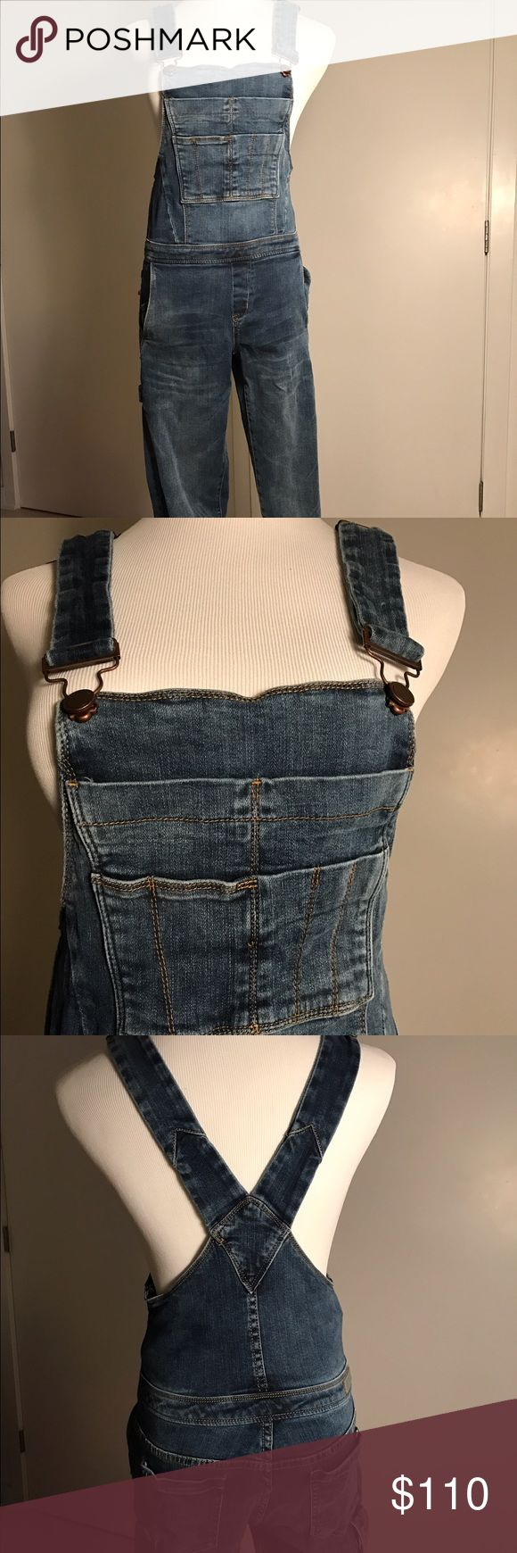 Blank NYC Denim Overalls Dark wash jean overalls by Blank NYC. Purchased from Dash. Has a side zipper closure. Fabric is a soft denim. Worn once. Blank NYC Jeans Overalls