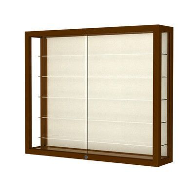 Waddell Heirloom Series Wall Display Case Frame Color: Carmel Oak, Case Backing: Plaque Fabric