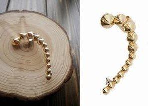 Элегантный золото шипы серьги-гвоздики манжеты серьги уха манжеты 15 pairs/lot, Ретро, Винтажный, Антикварный ювелирные изделия