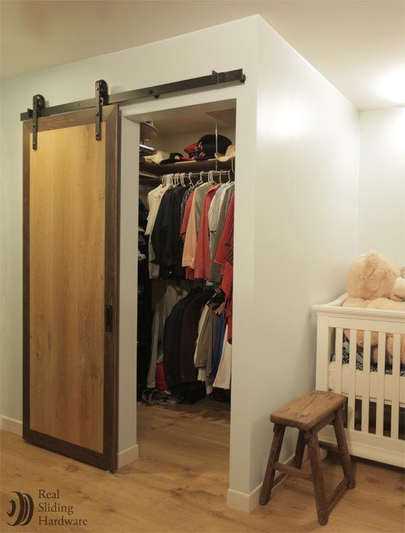 311 best barn doors images on pinterest sliding doors - Master bedroom closet door ideas ...