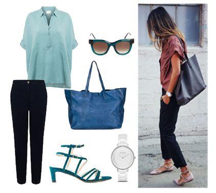 Weekend Style in blue / Linen shirt  by Josefinaelizalde on Set That -