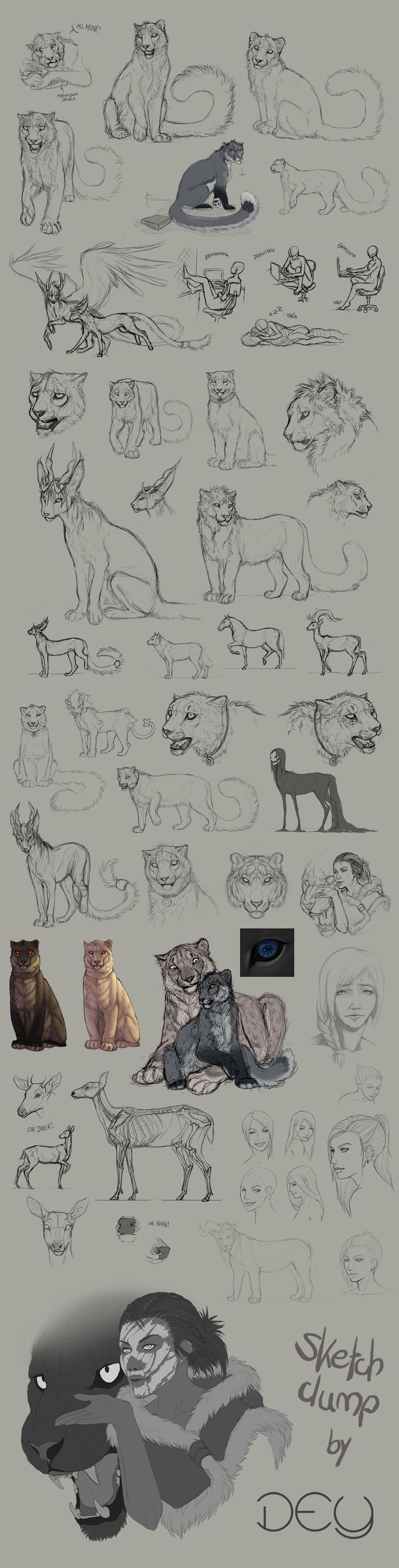 Tumblr Sketchdump #4 by DeyVarah.deviantart.com on @DeviantArt