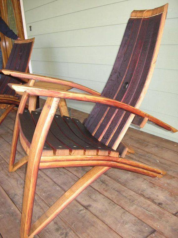 Adirondack Wine Barrel Chairs Wedding Chair Covers Pattern Rustic Furniture