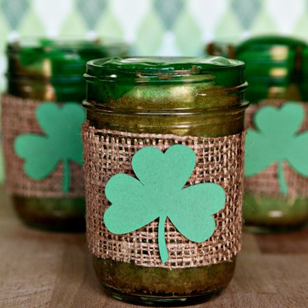 Green St. Patrick's Day Cupcakes in a Jar - what a fun