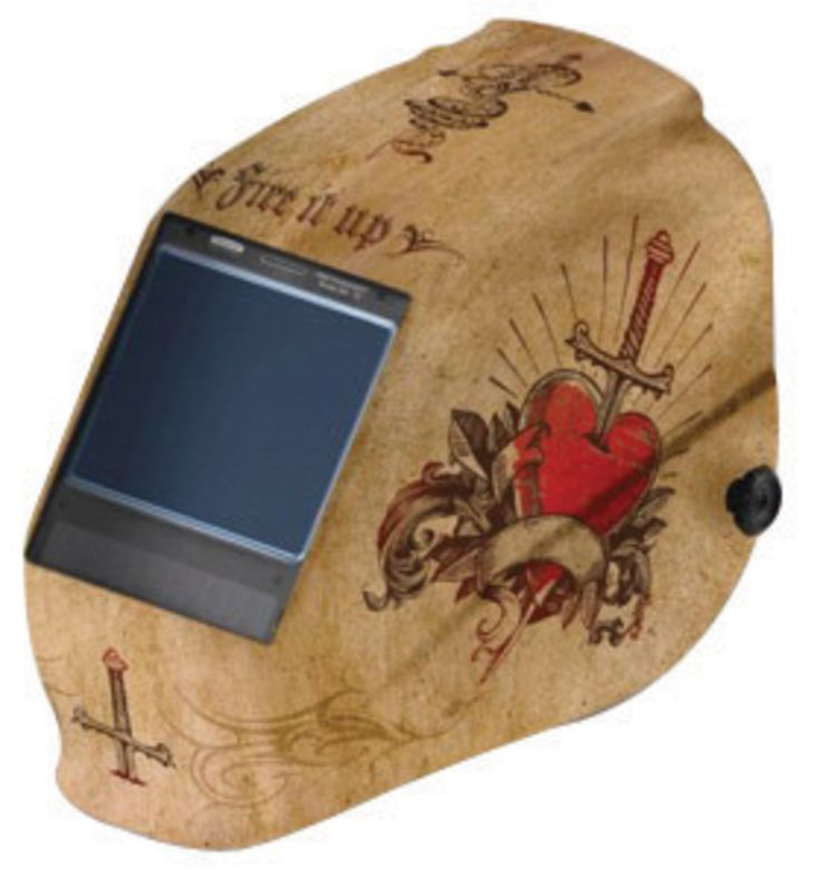 """Airgas - K4530314 - Kimberly-Clark Professional* W60 Gold And Red Welding Helmet With 4.5"""" X 5.25"""" Variable Shades 5 - 13…"""