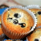 Aunt Blanche's Blueberry Muffins Recipe... substitute half the butter for applesauce, and use only 1 cup sugar + vanilla. Yummy