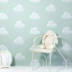 Bartsch Childrens Wallpaper: Cotton Clouds in Water Lily -- claradeparis.com ♥