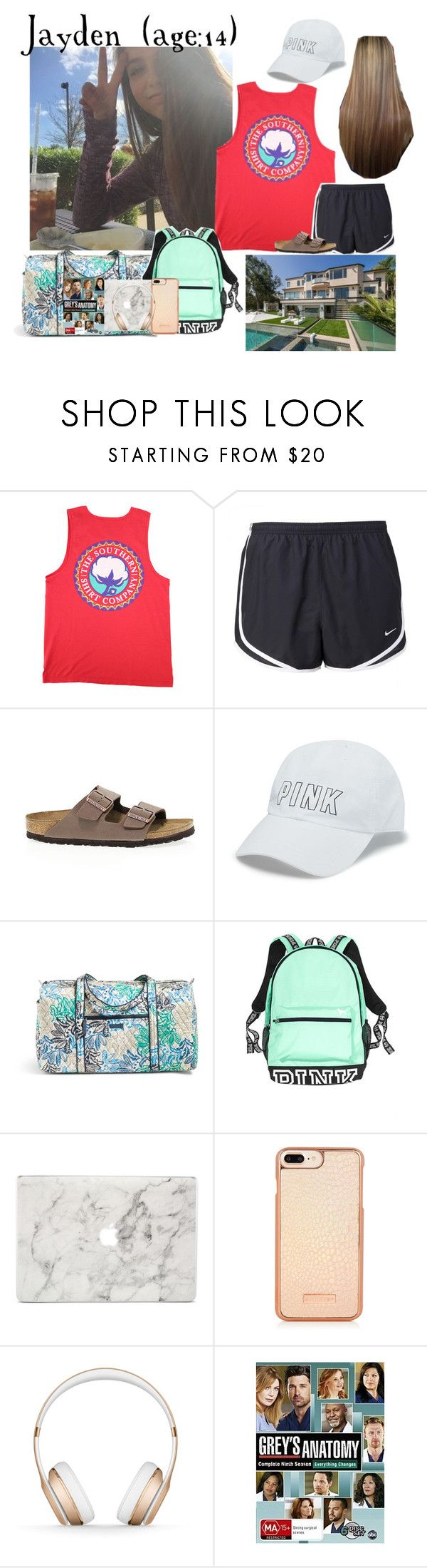 """""""Jayden // 4-21-17 // Driving Home From Lake Tahoe"""" by dream-families ❤ liked on Polyvore featuring NIKE, Birkenstock, Victoria's Secret, Vera Bradley, Agent 18, Beats by Dr. Dre and TheOvermanFamily"""