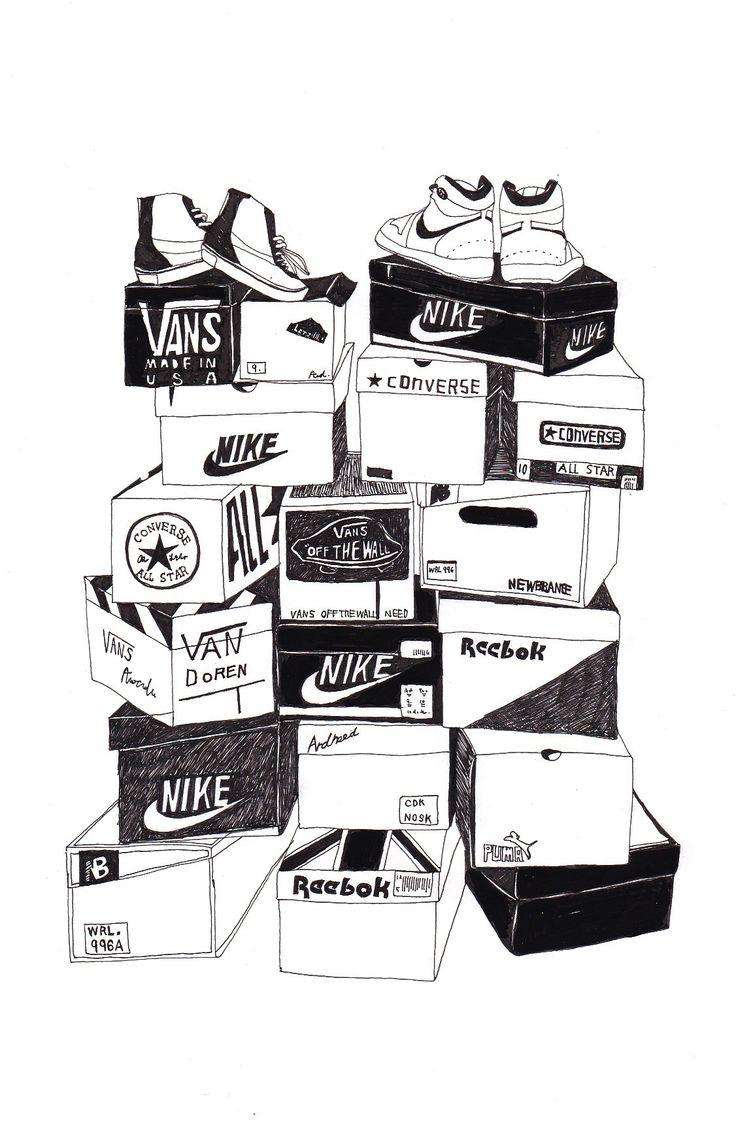 スニーカー sneaker illustration