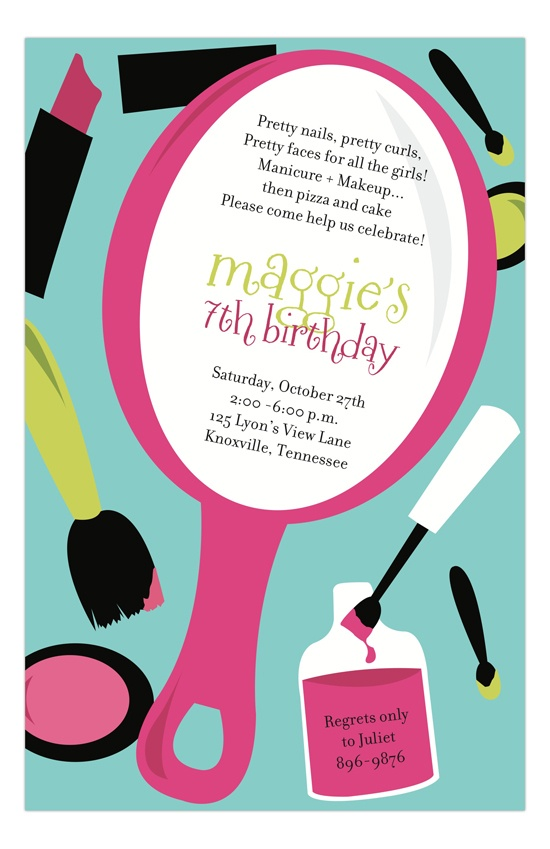 Make Up Invitation Barbie Party. Pinterest