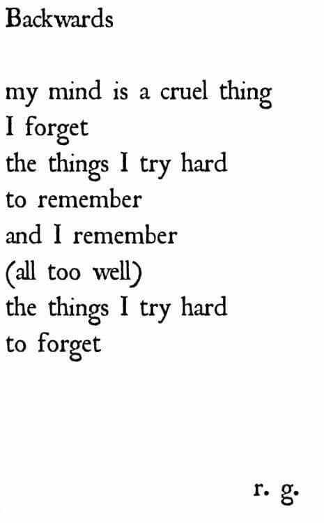 Memories remember PTSD mental illness poem