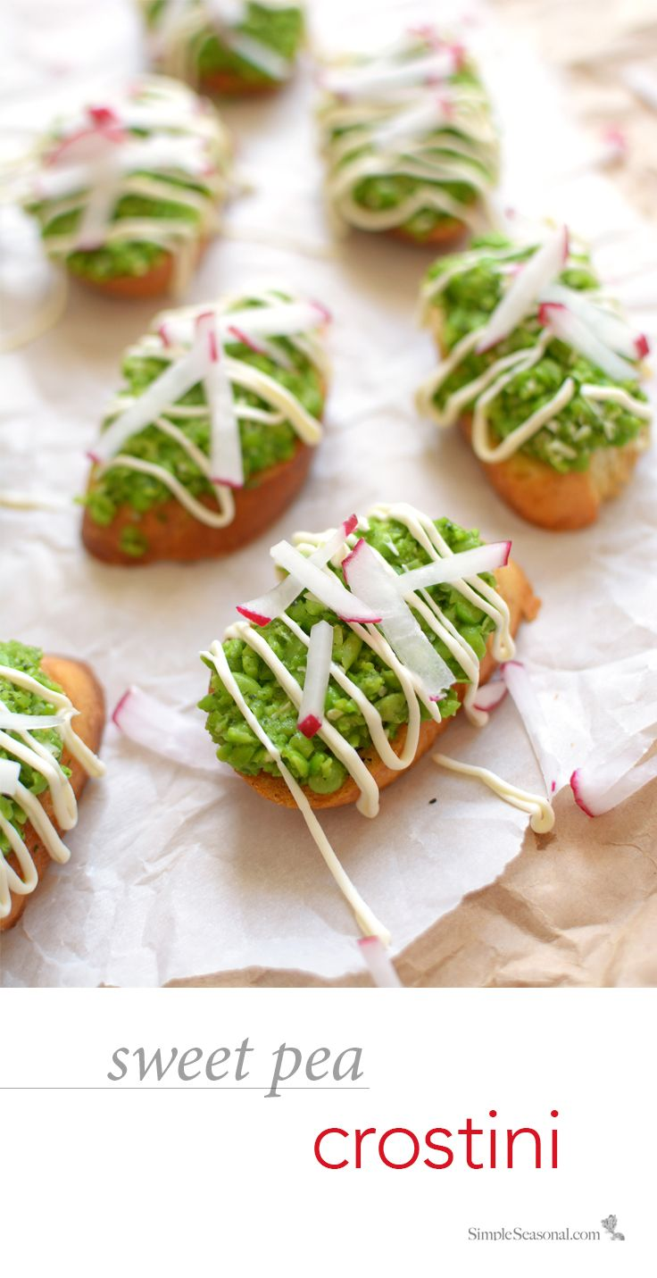 Sweet Pea Crostini – This light and fresh spring appetizer is the perfect way to whet your Easter appetite (without spoiling your dinner).