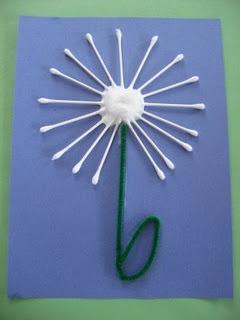 Q-Tip Dandelion - cute!