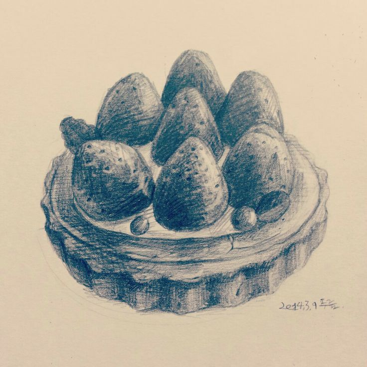 Strawberry tart drawing