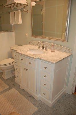 Curved Vanity Backsplash Home Master Bathroom Master