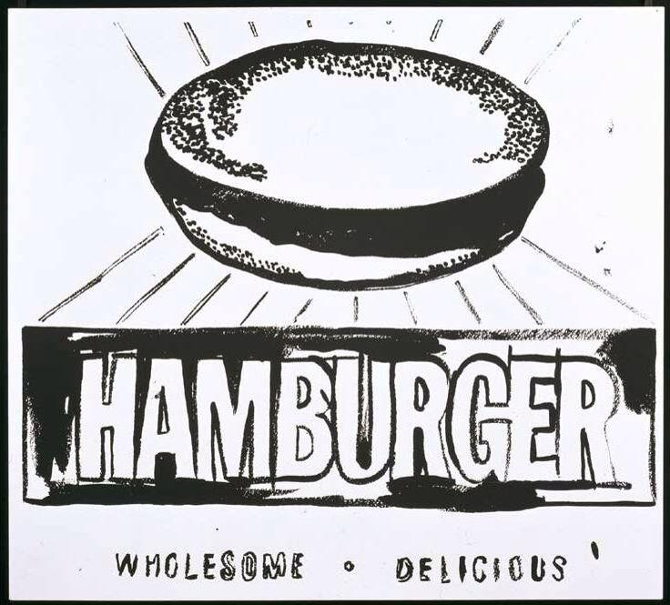 """Andy Warhol """"Hamburger"""""""