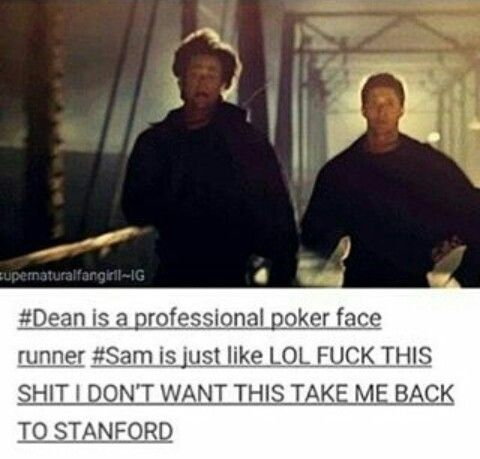 Lol the supernatural fandom on tumblr never seizes to disappoint