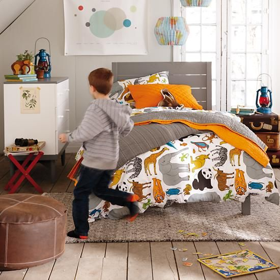 Adorable Full Kids Bedroom Set For Girl Playful Room Huz: Welcome To The Jungle Bedding
