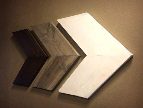 Rustic Wooden Arrow Set, Set of Three Chevron Arrows, Wood Arrow Signs, Woodland…