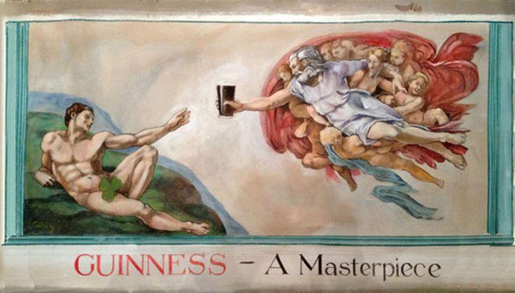 John Gilroy Guinness ad based on Michelangelo's